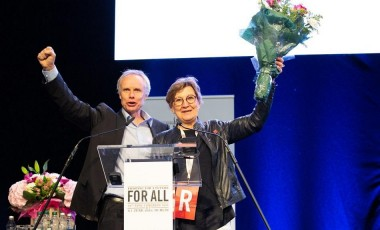 Mette Nord and Jan Willem Goudriaan elected 6 June 2019 EPSU Congress Dublin 950 px